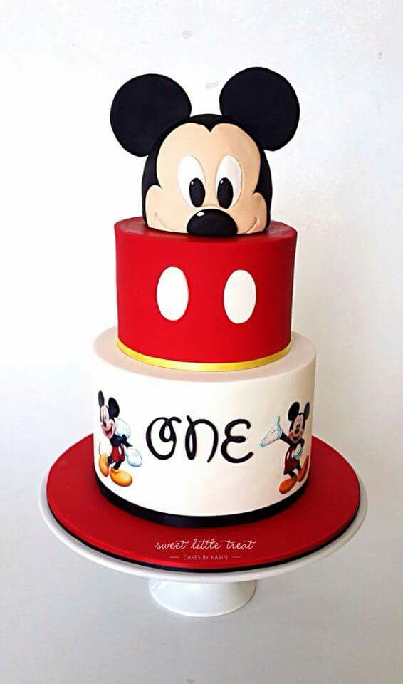 D Mickey Mouse Cake Pinterest