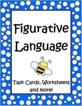 Updated...Take a look! Task cards added and more...This 41 page Figurative Language Unit by The Teacher Next Door has everything you need to teach idioms, metaphors, similes, hyperboles, alliteration, onomatopoeia and personification.This unit is full of a variety of resources that are really fun for your students and help them understand so many phrases we use in the English language. I love teaching these concepts to my kids!