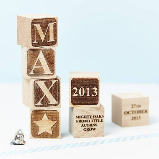 Personalised Baby Blocks - how cute are these!!