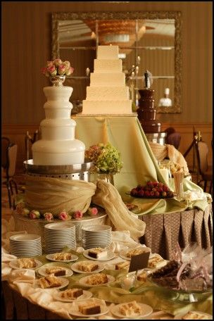 Chocolate Fountain Wedding Cake