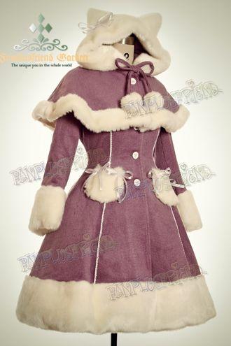 Cutie FRUiTS Sweet Miss Bunny Wool Coat Lady 75 Light Purple Wool. $180.39