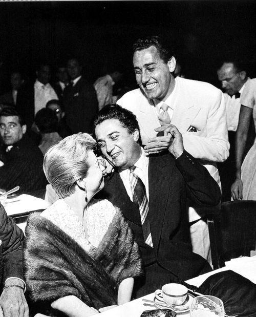 Giulietta Masina, Federico Fellini and Alberto Sordi