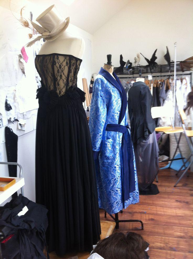Bespoke Prom dress & bespoke uber-lush silk dressing gown. www.annebarclay.com
