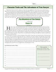 The Adventures of Tom Sawyer (Twentieth-Century Literary Criticism) - Essay