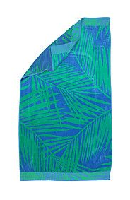 JACQUARD PALM LEAF BEACH TOWEL