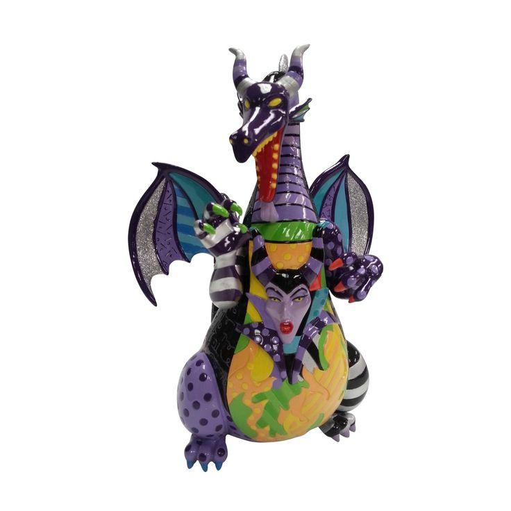 Enesco Disney by Britto - Maleficent Dragon Figurine