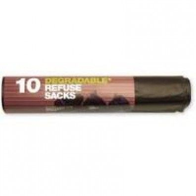 Degradable Black Bin Bags 70 Litre made in Hertfordshire and supplied by Green Stationery Co in Somerset - £9.48