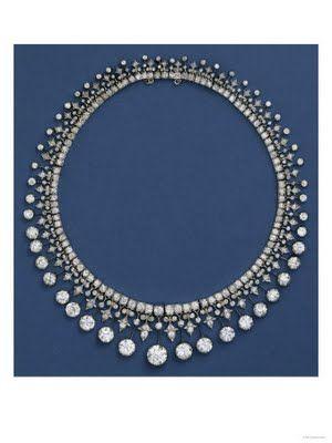 A Victorian Diamond Fringe Necklace, Circa 1870