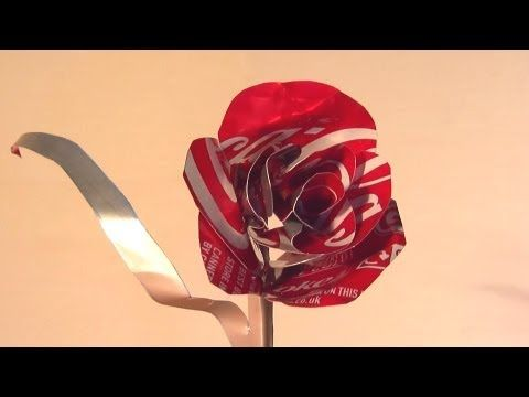 ▶ How to Make Coke Can Rose - Valentines Day Gift - YouTube