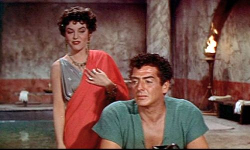 Anne Bancroft & Victor Mature in 'Demetrius and the Gladiators' 1954