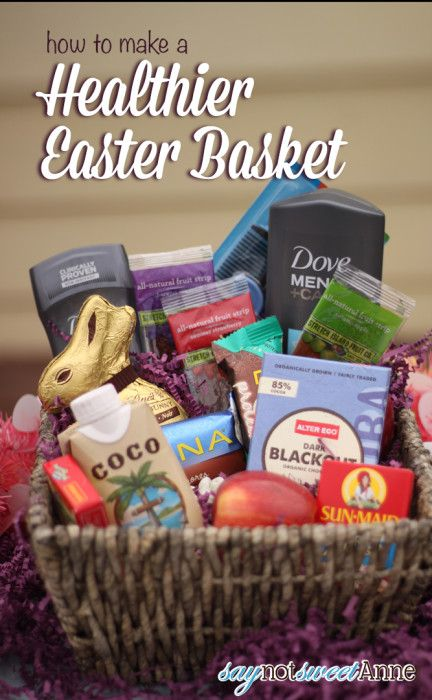 88 easter basket ideas for husband boyfriend easter basket healthier easter basket alternatives and printable cards negle Images