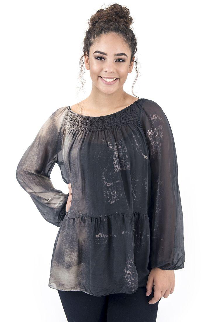 Women's Tunic-Smoked Tunic Black