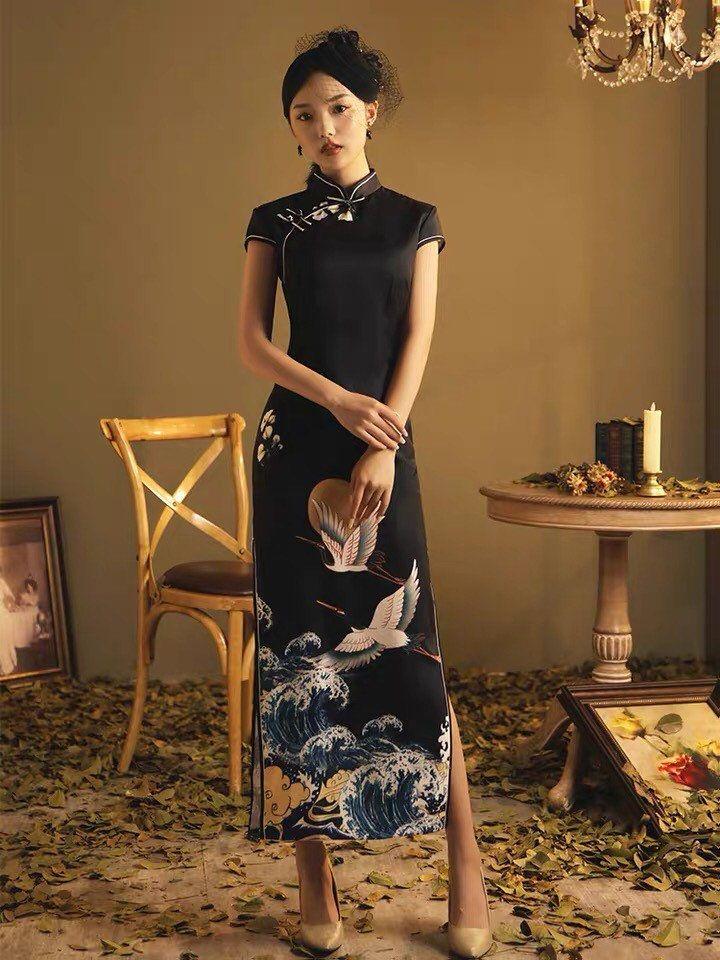 Elegant traditional chinese dress chinese cheongsam dress