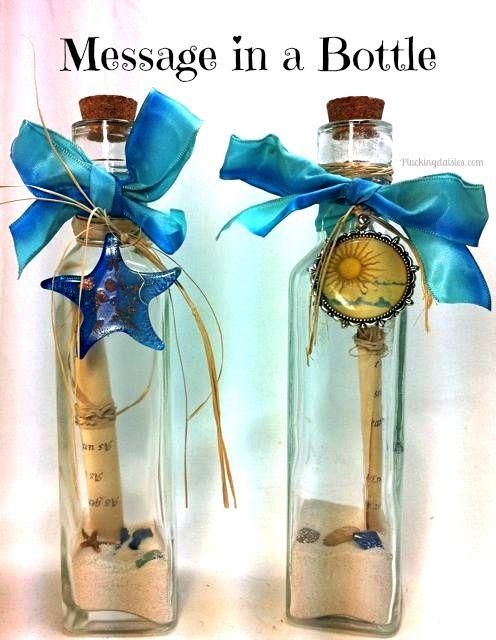 Message in a Bottle | @PluckingDaisy #WeddingDIY #Favors #Invitations