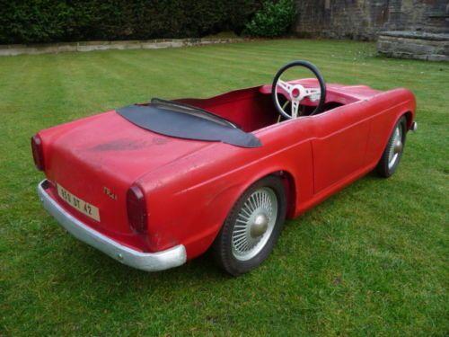rare 1960s triumph tr4a pedal car barn find car barnsmall carsvintage