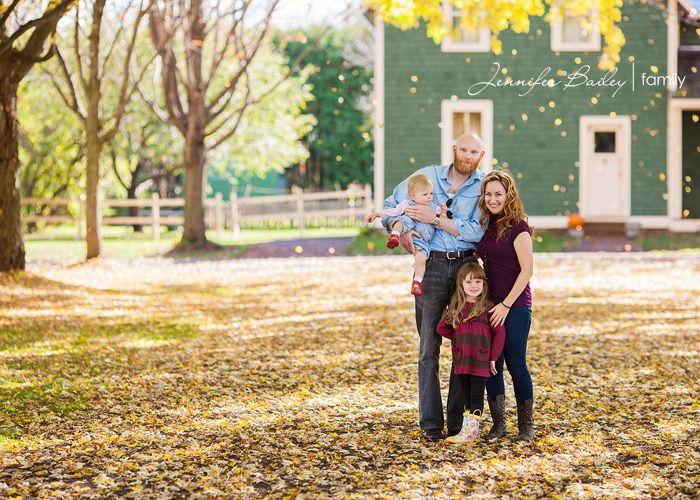 Jennifer Bailey Photography Ottawa, fall family portraits, falling leaves, family