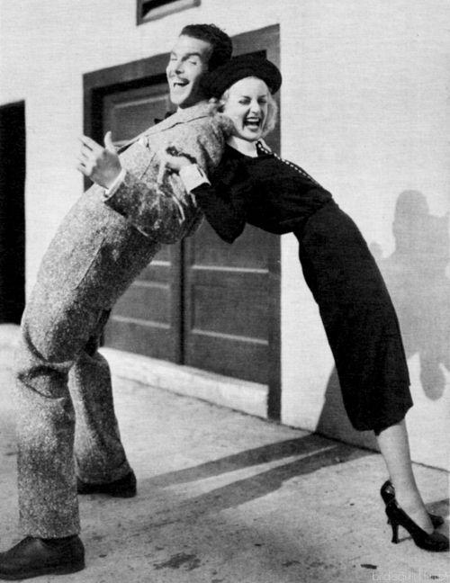 Fred MacMurray and Carole Lombard