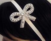 Bridal Rhinestone Headband, MILANA, Bridal Bow, Bridesmaid Headband , Flower Girl Headband, Crystal Headband, Bridal Headband