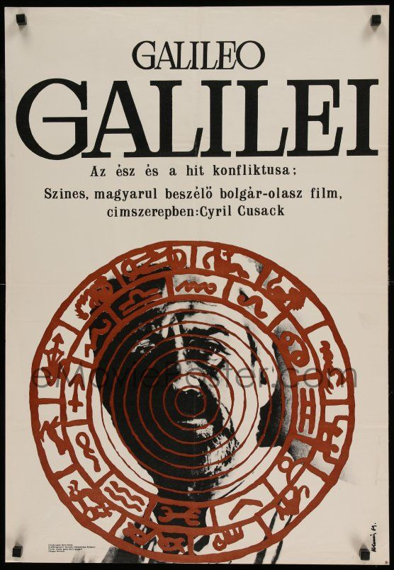 eMoviePoster.com: 6j380 GALILEO Hungarian 23x33 '69 Cyril Cusack in the title role, artwork by Erzesbet Koleszar!