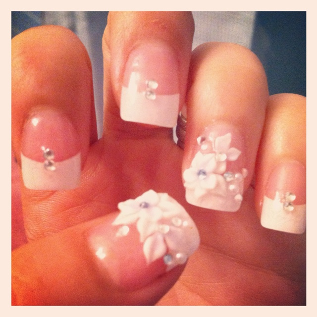 17 best Wedding images on Pinterest | Bridal nails, Bride nails and ...