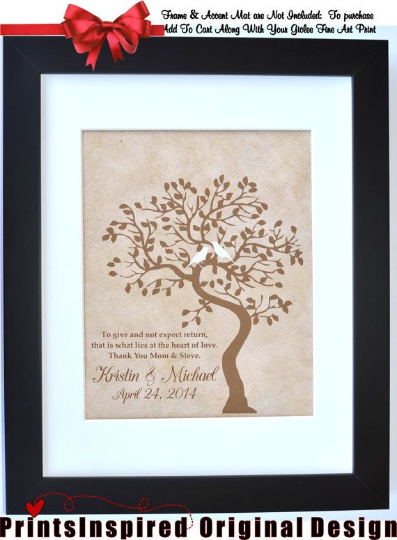 Thank You Gift Wedding For Pas From Bride Groom New Future In Laws Quote Personalized Tree Present Mob Mog Fob Fog Art Print