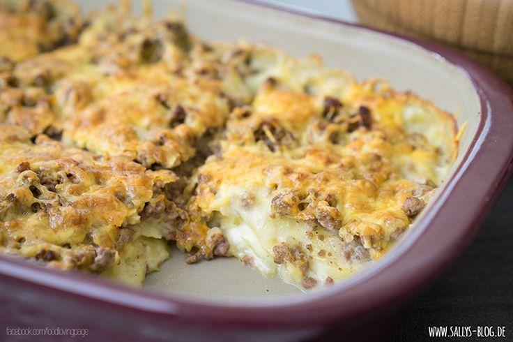 Würziges Hackfleisch - Kartoffel - Gratin