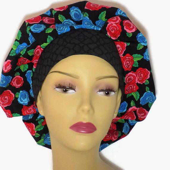 Bouffant scrub hat women's scrub cap surgical by KaelisCreations
