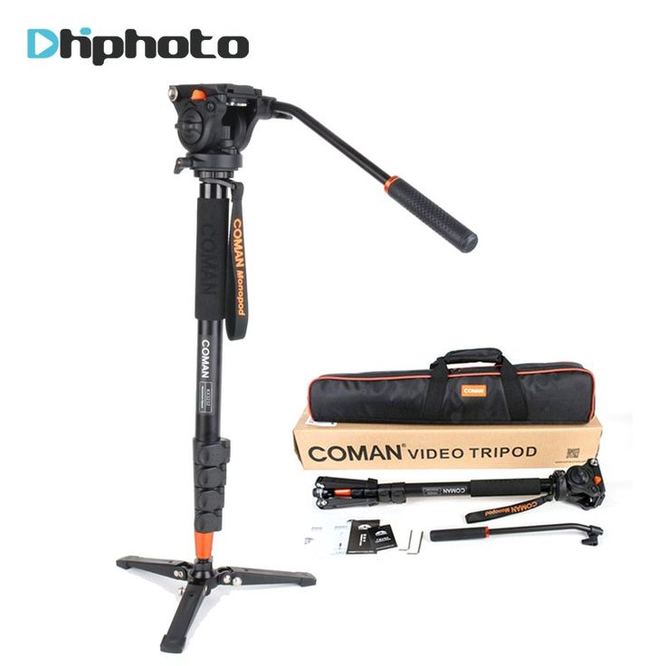 Ulanzi Coman Aluminum Alloy Tripod Video Monopod with Fluid Pan Head and Unipod Holder for Canon Sony Nikon Panasonic GH5 DSLR //Price: $140.66//     #storecharger
