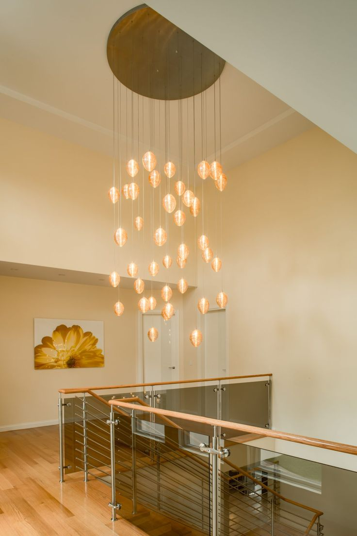 Cocoon | Glowing Stairwell  . StaircasesChandeliersLaddersStairsChandelier  LightingChandelierStairways