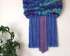 Tejido de la pared colgante / tejidas a mano tapiz que teje fibra pared arte textil Casa Decor Evasdoodlings