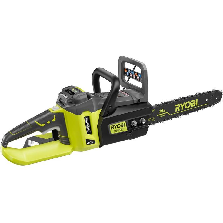 Ryobi Reconditioned 14 in. 40-Volt Lithium-Ion Brushless Cordless Electric Chainsaw
