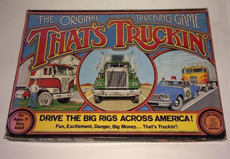 Vintage 1976  Showker Inc. That's Truckin: The Original Trucking Board Game  #ShowkerInc