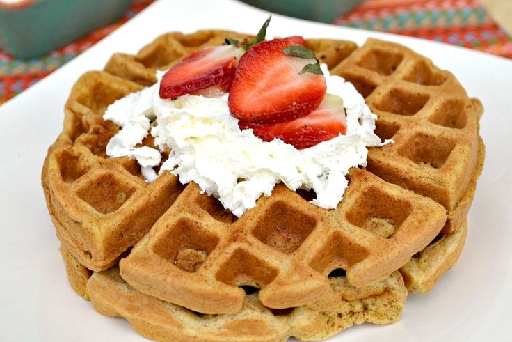 Whole Wheat Waffles  I only needed 1 1/2 cups Skim Milk and added 1 tbsp Stevia in the Raw.  Everyone ate it up :-)
