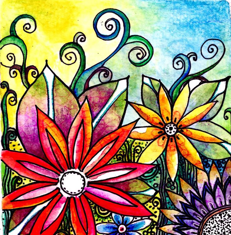 Best Art Flowers Images On Pinterest Doodle Flowers Flower
