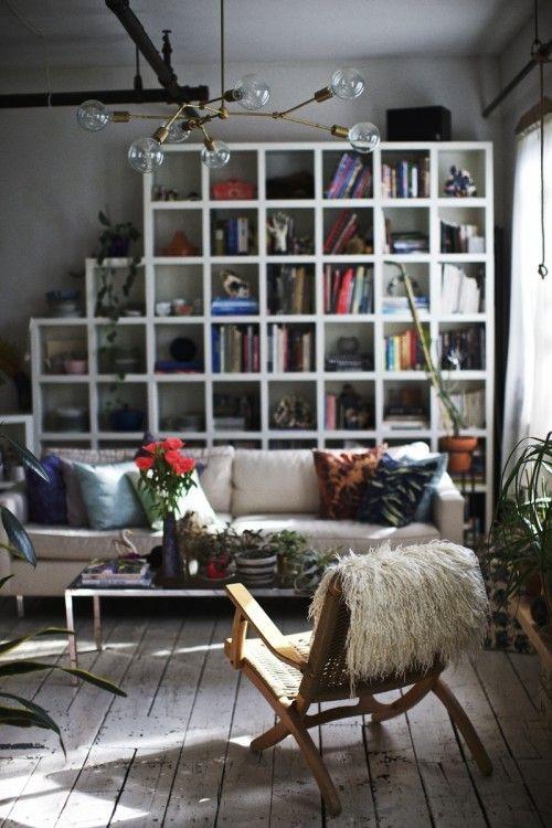 //: Interior, Book Shelf, Bookshelves, Idea, Living Rooms, Design Sponge, Book Shelves, Space, Light Fixture