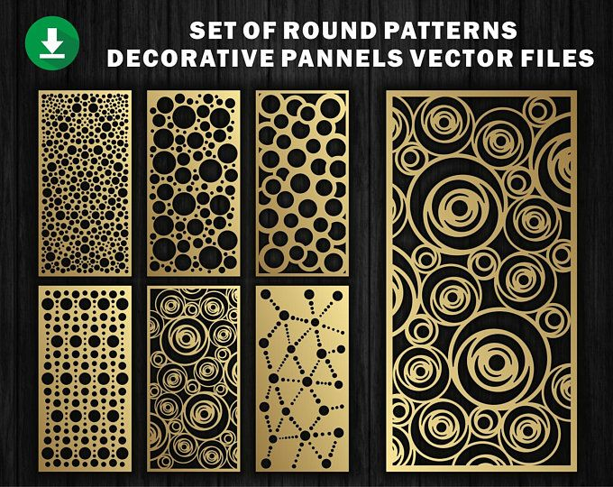 23 Decoratief Sierpaneel Wandpanelen Houten Paneel Cnc Gesneden Lasergesneden Geometrisch Patroonkunstpaneel Dxf Dwg Ai Eps Svg Kamerverdeler Wood Paneling Etsy Decorative Panels