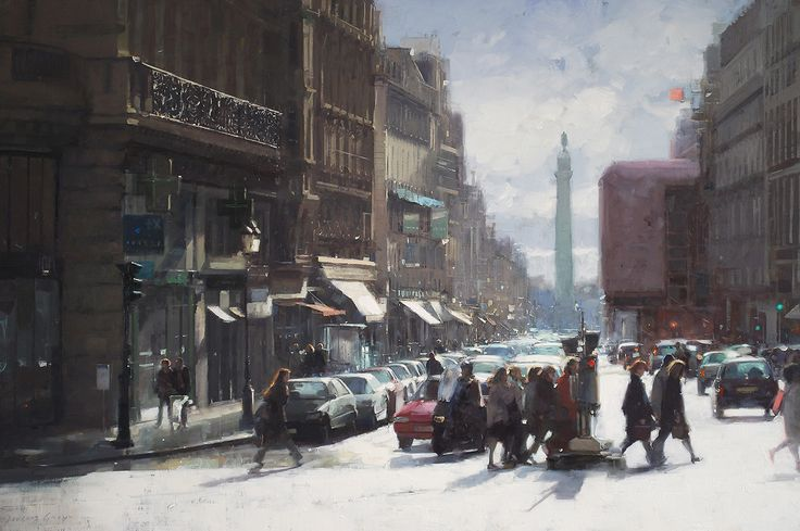 Douglas Gray | Towns & Cities Paintings | Contemporary English Artist of…