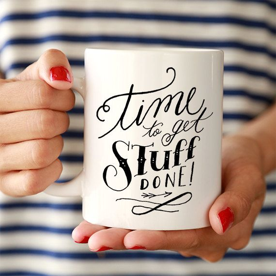 Get Stuff Done Ceramic Mug by ClickandBlossom on Etsy