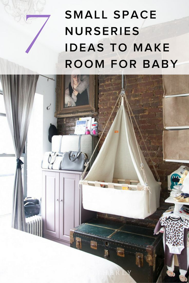 Baby on the way but little room to spare? Here are seven small space nursery ideas to inspire you—because a little renovation is a lot cheaper than a new house! (Hint: the key is creative organization!)
