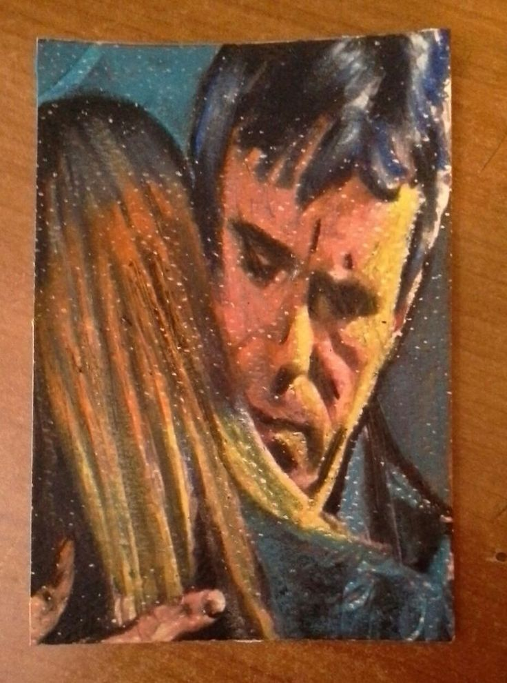 Aceo double jack  o'neill & Samantha Carter stargate sg1. 10x12 cm. pastelli