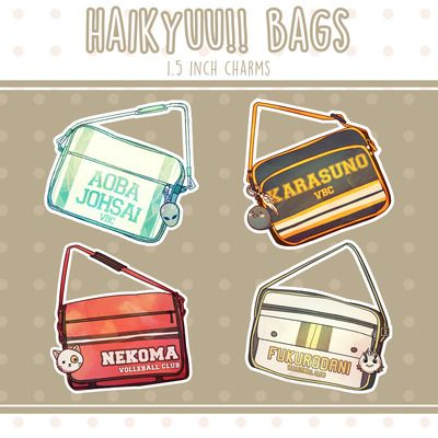 Pokerface Haikyuu!! Bag Charms, haikyuu!!, charm, keychain