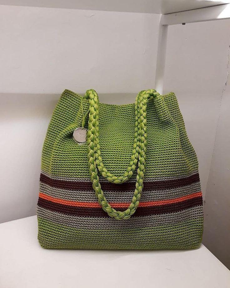 Crochet bag pattern-MACIE bag-Crochet handbag pattern-Crochet boho bag-Beach bag…