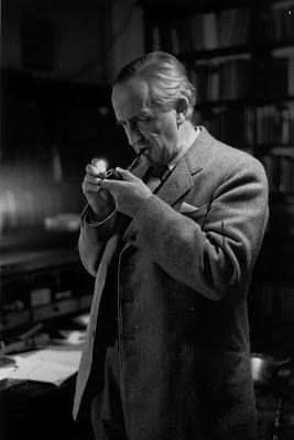 A rare picture of a literary giant and Christian author, J.R.R.Tolkien