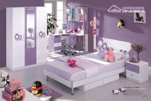 modèle deco chambre ado fille violet | Déco chambre ado fille ...