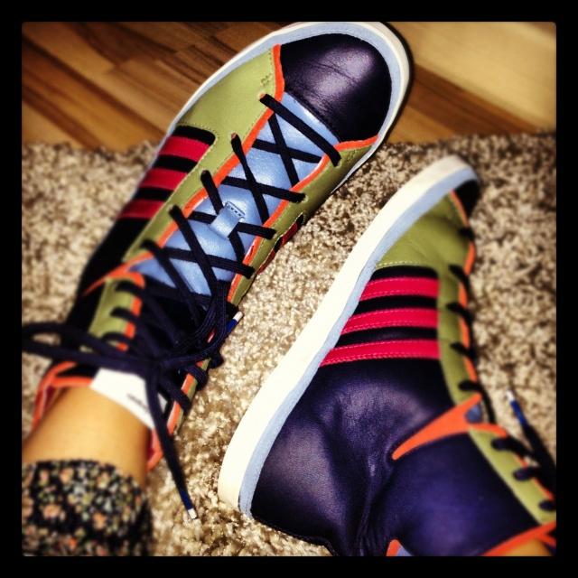For lazy weekends: Blue Haze sneakers, adidas Originals