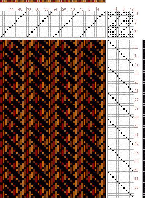 Hand Weaving Draft: 12 shaft block twill, marie payne, 12S, 12T - Handweaving.net Hand Weaving and Draft Archive