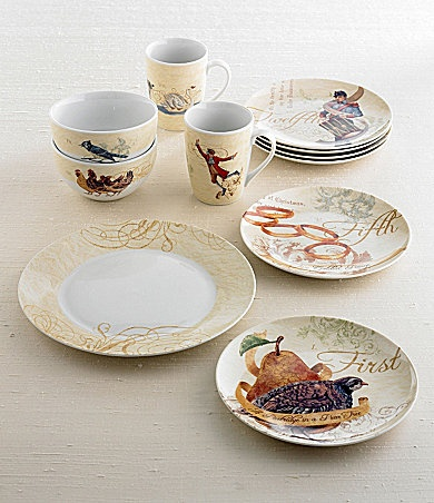 noble excellence 12 days of christmas dinnerware