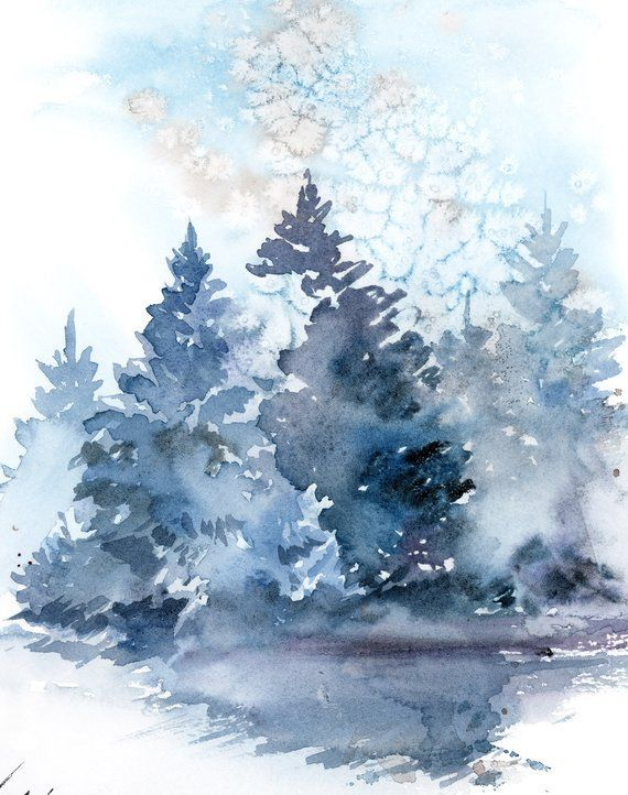 Kieferlandschaftsmalerei Winterlandschaftsursprungliche