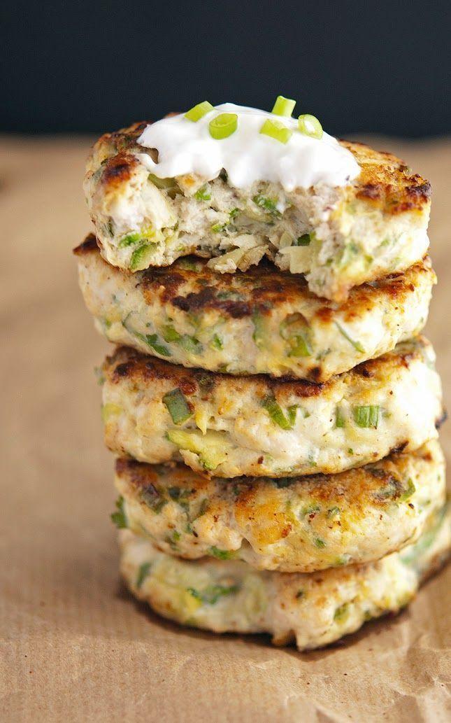 Turkey Zucchini Burgers with Lemon Yogurt Sauce | Paleo Recipe that Gluten & Grain Free