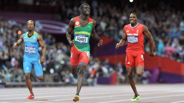 BBC Sport - Grenada's Kirani James wins Olympic 400m gold